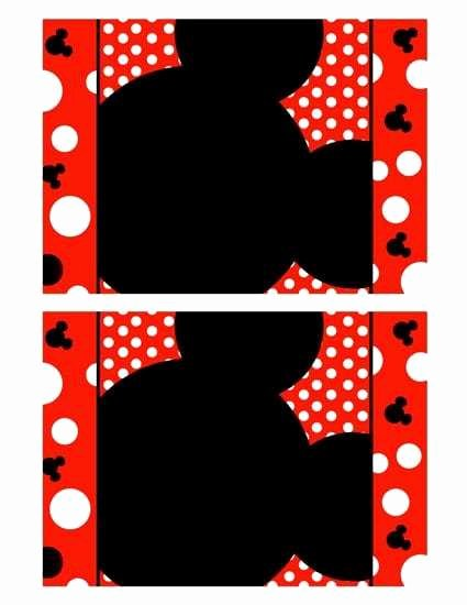 Mickey Mouse Blank Invitations New Mickey Mouse Blank Invitation Template Cards Design