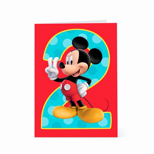 Mickey Mouse Clubhouse 2nd Birthday Beautiful Free Printable Mickey Mouse Birthday Cards