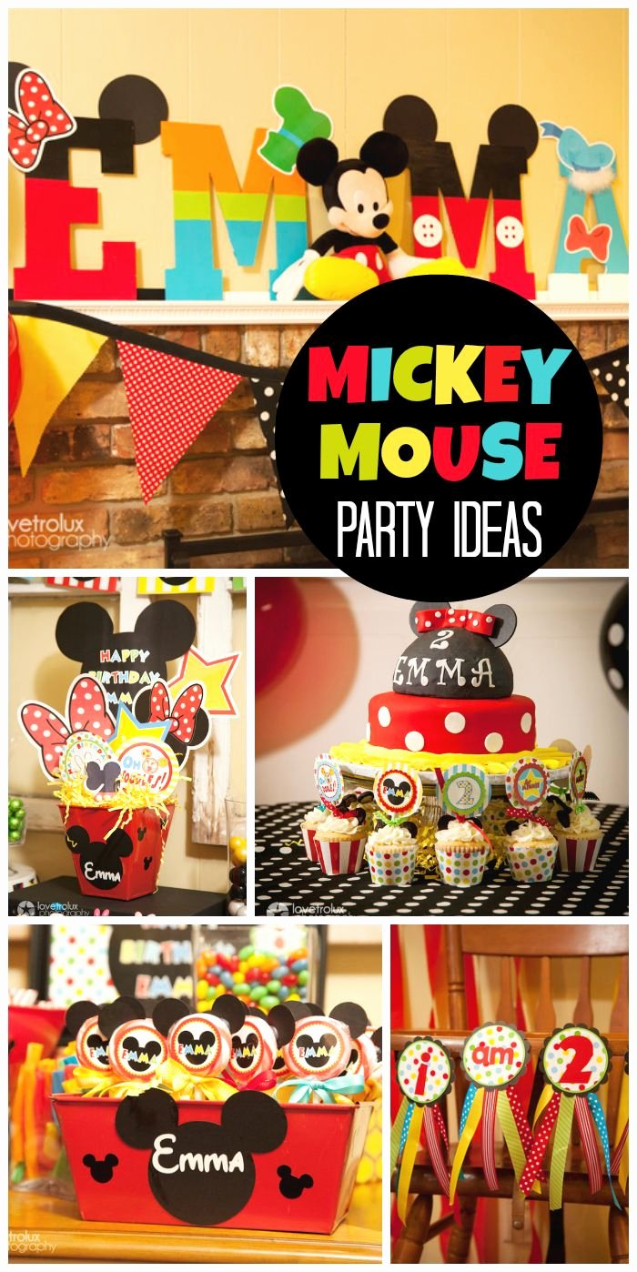"""Mickey Mouse Clubhouse 2nd Birthday Elegant Mickey Mouse Clubhouse Birthday """"2nd Birthday"""""""