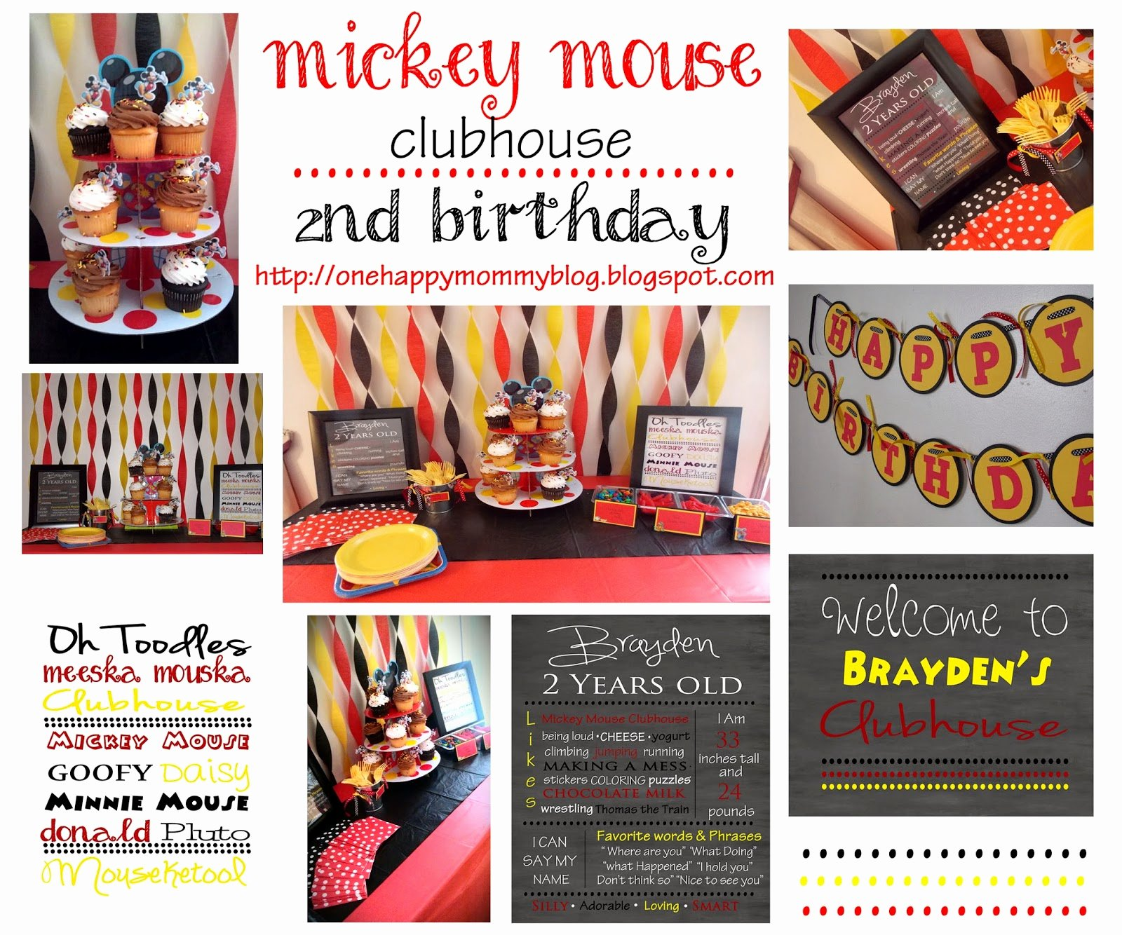 Mickey Mouse Clubhouse 2nd Birthday Fresh E Happy Mommy Mickey Mouse Clubhouse 2nd Birthday Party