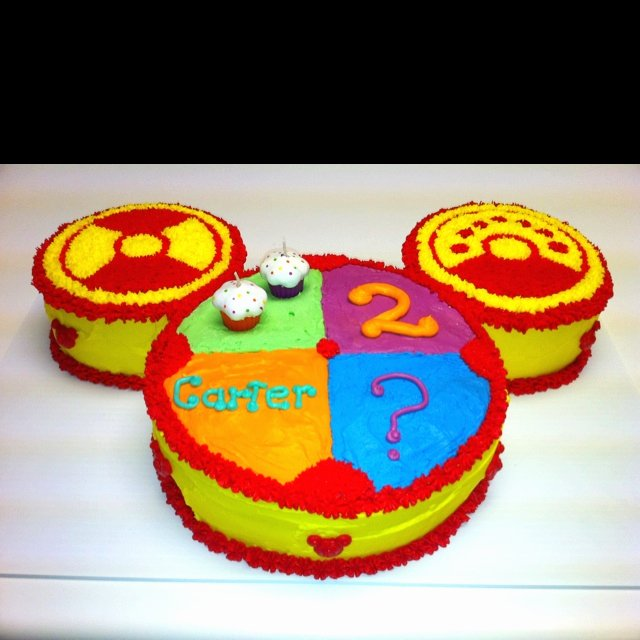 Mickey Mouse Clubhouse 2nd Birthday Inspirational Mickey Mouse toodles Cake