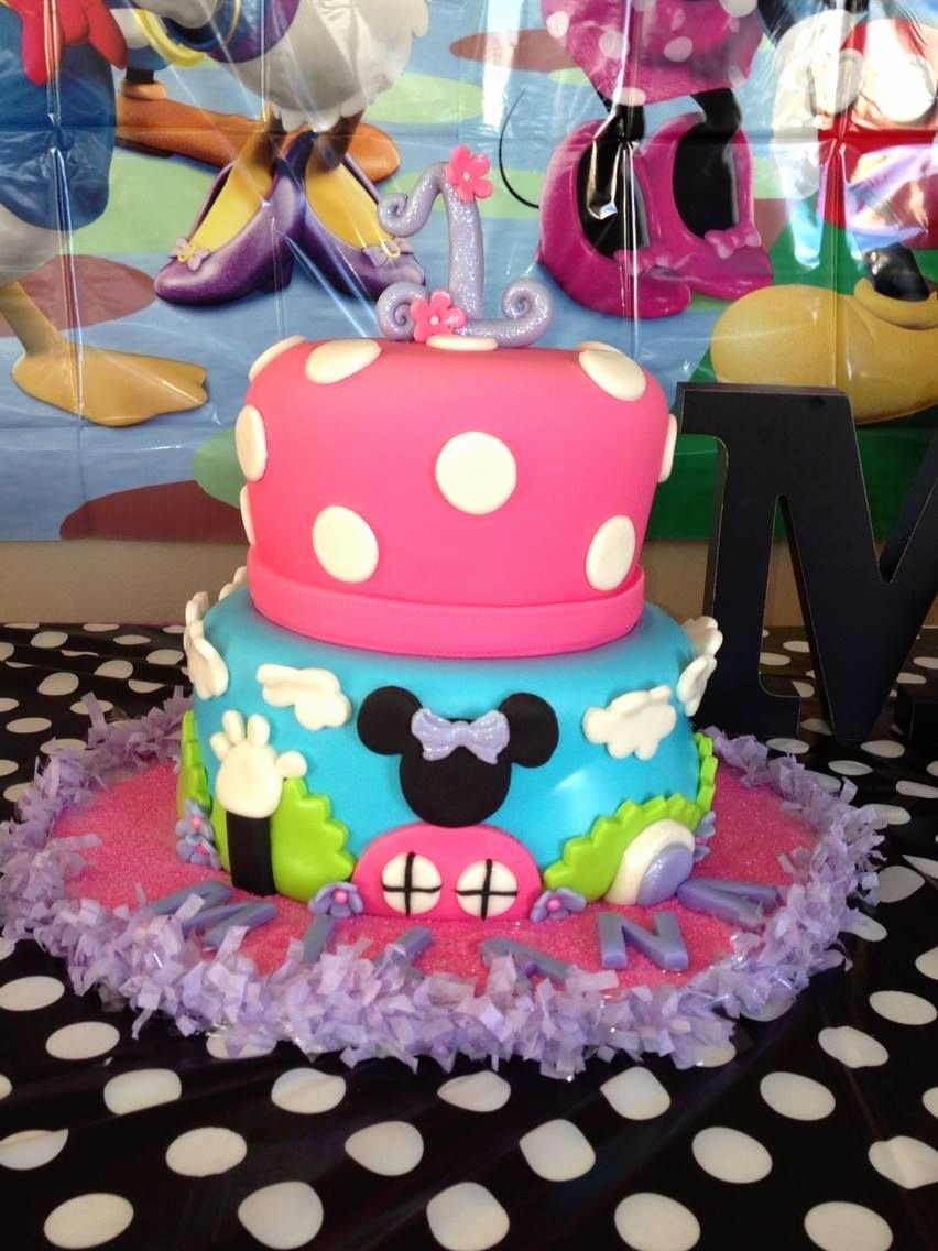 Mickey Mouse Clubhouse 2nd Birthday Lovely Mickey Mouse Clubhouse Girly Bday Cake