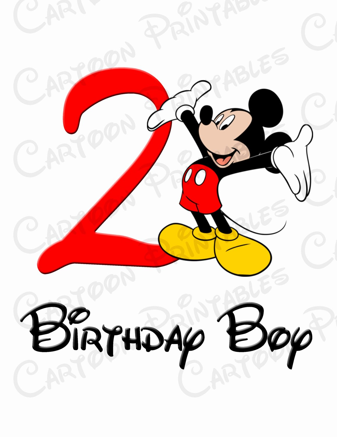 Mickey Mouse Clubhouse 2nd Birthday Luxury Mickey Mouse Second 2nd Birthday Boy Image Printable Clip