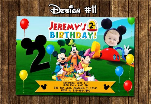 Mickey Mouse Clubhouse Birthday Invitation Awesome Mickey Mouse Clubhouse Birthday Party Invitations