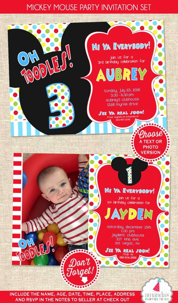 Mickey Mouse Clubhouse Birthday Invitation Best Of Mickey Mouse Birthday Invitation