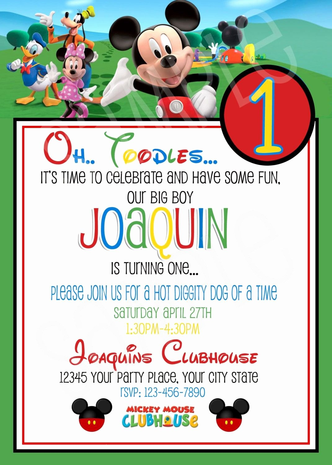 Mickey Mouse Clubhouse Birthday Invitation Inspirational Mickey Mouse Invitations Free Printable