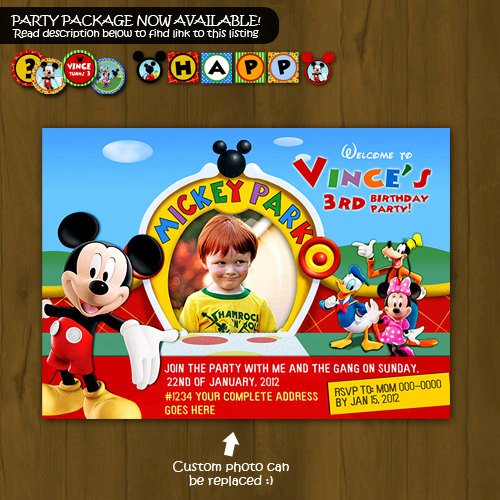 Mickey Mouse Clubhouse Birthday Invitation Luxury Mickey Mouse Clubhouse Printable Birthday Invitation
