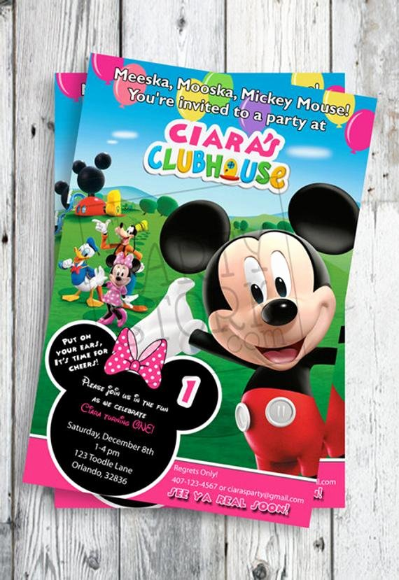 Mickey Mouse Clubhouse Birthday Invitation Luxury Minnie Mouse Invites Minnie Mouse First Birthday Invites