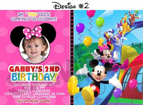 Mickey Mouse Clubhouse Birthday Invitation Unique Mickey Mouse Clubhouse Birthday Party Invitations