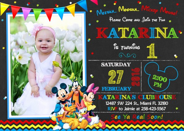 Mickey Mouse Clubhouse Birthday Invitations Beautiful 8 Mickey Mouse Birthday Invitation Designs & Templates