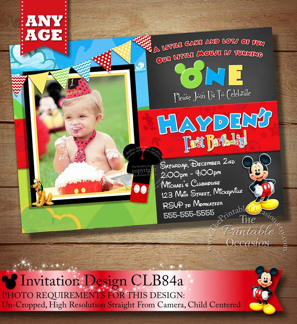 Mickey Mouse Clubhouse Birthday Invitations Beautiful Mickey Mouse Clubhouse Invitation Mickey Invitation Mickey