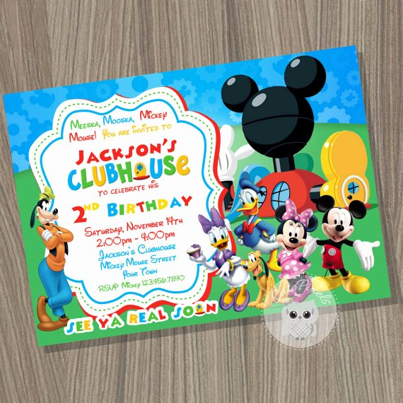 Mickey Mouse Clubhouse Birthday Invitations Best Of Mickey Mouse Clubhouse Invitation Mickey Mouse Birthday