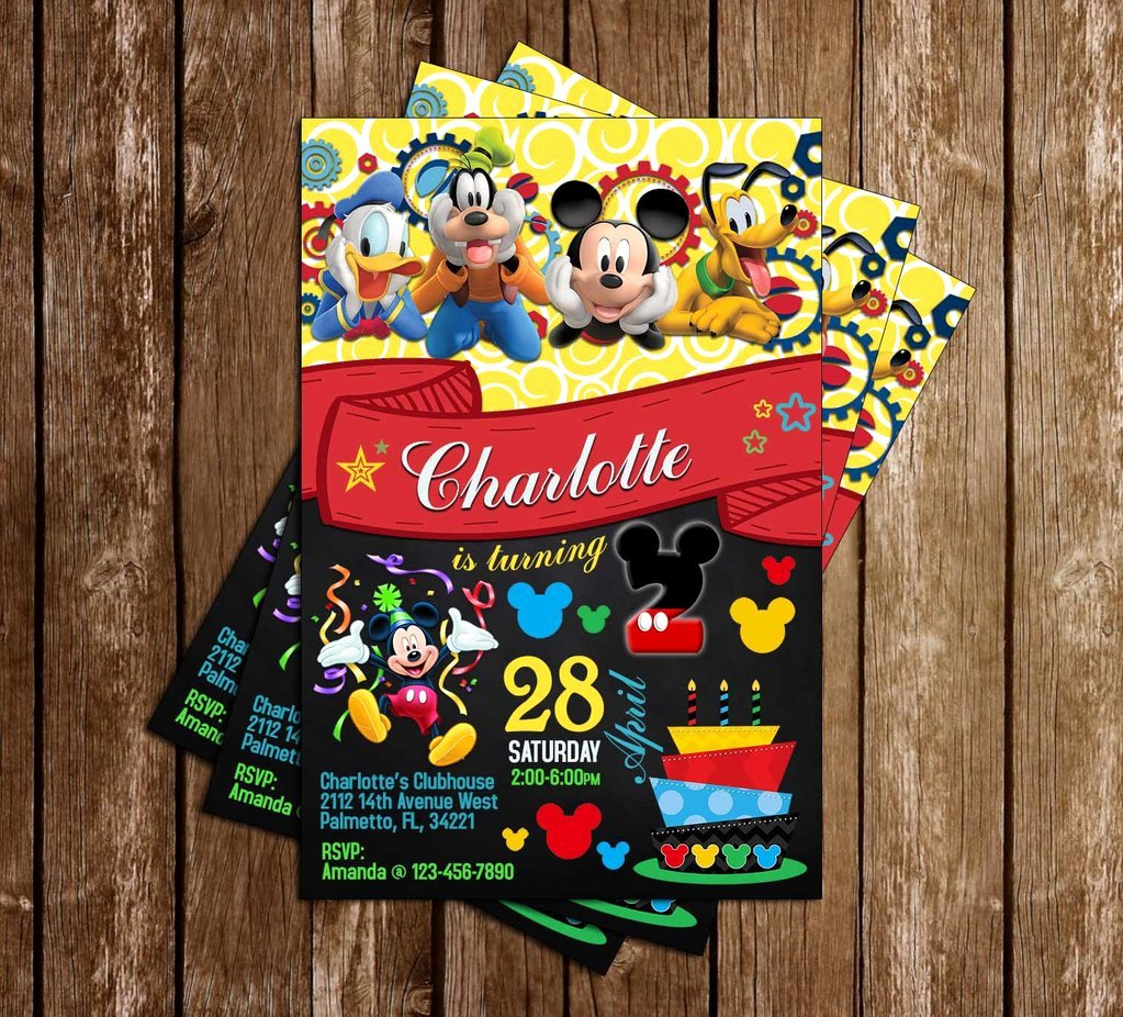 Mickey Mouse Clubhouse Birthday Invitations Elegant Novel Concept Designs Mickey Mouse Clubhouse