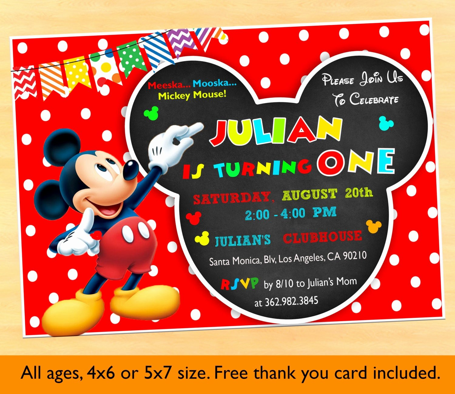 Mickey Mouse Clubhouse Birthday Invitations Fresh Mickey Mouse Clubhouse 1st Birthday Invitations Mickey Mouse
