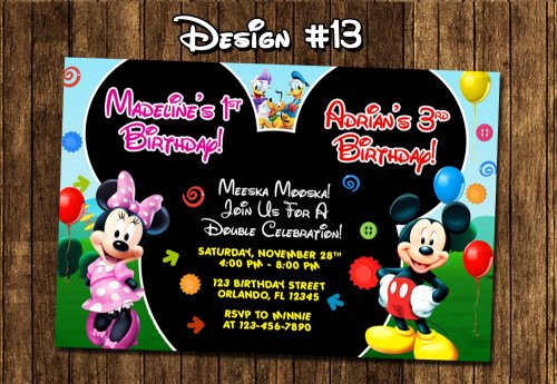 Mickey Mouse Clubhouse Birthday Invitations Inspirational Mickey Mouse Clubhouse Birthday Party Invitations