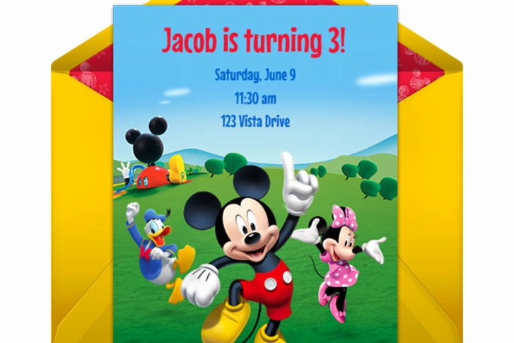 Mickey Mouse Clubhouse Birthday Invitations Unique Mickey Mouse Clubhouse Party Line Invitation