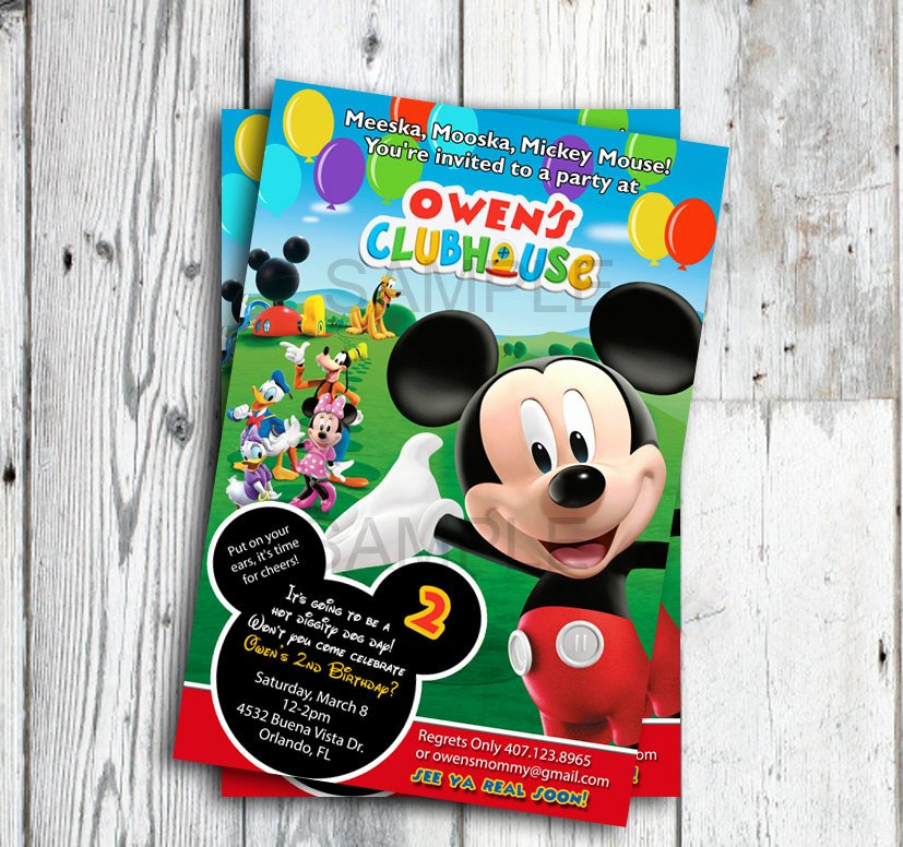 Mickey Mouse Clubhouse Invitation Best Of Mickey Mouse Clubhouse Invitations Mickey Mouse Clubhouse