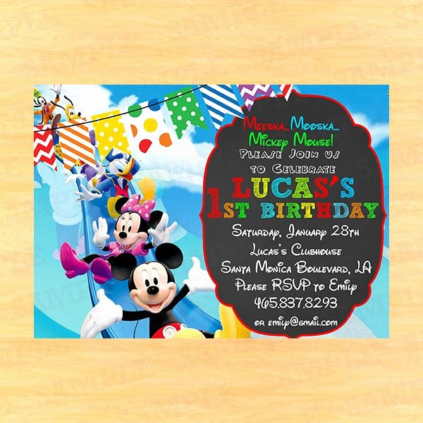 Mickey Mouse Clubhouse Invitation Lovely Mickey Mouse Clubhouse Invitation Wording Mickey Mouse