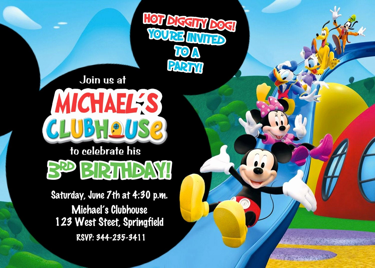Mickey Mouse Clubhouse Invitation Luxury Mickey Mouse Clubhouse Birthday Party Invitation Printable