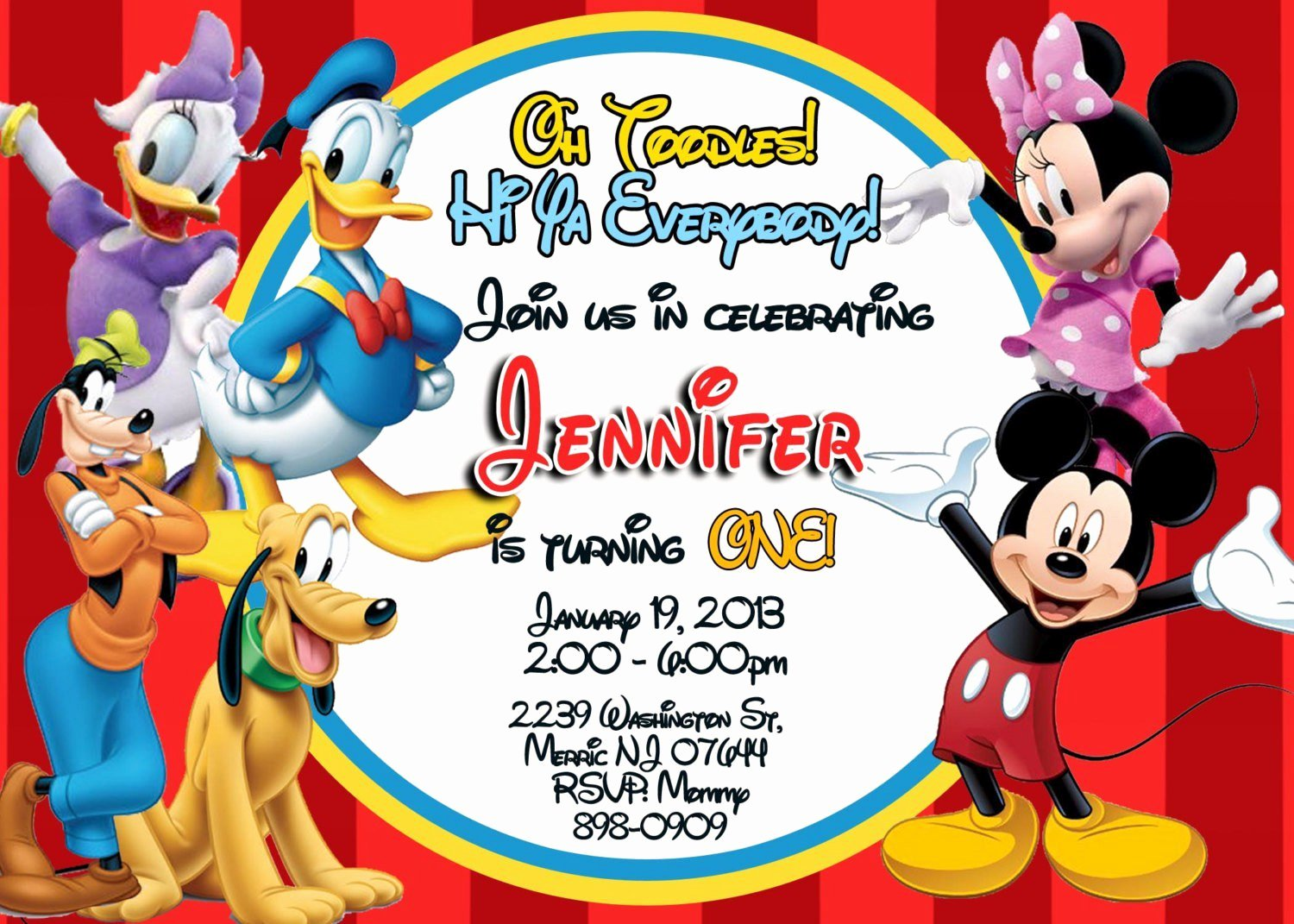 Mickey Mouse Clubhouse Invitation Template Fresh Exclusive Mickey Mouse Clubhouse Birthday Invitations