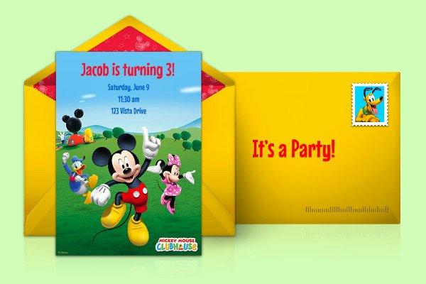 Mickey Mouse Clubhouse Invitation Template Inspirational 11 Disney Invitation Designs & Templates Psd Ai