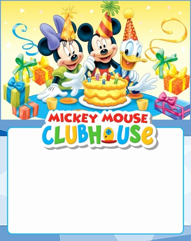 Mickey Mouse Clubhouse Invitation Template Inspirational Free Invitation Templates