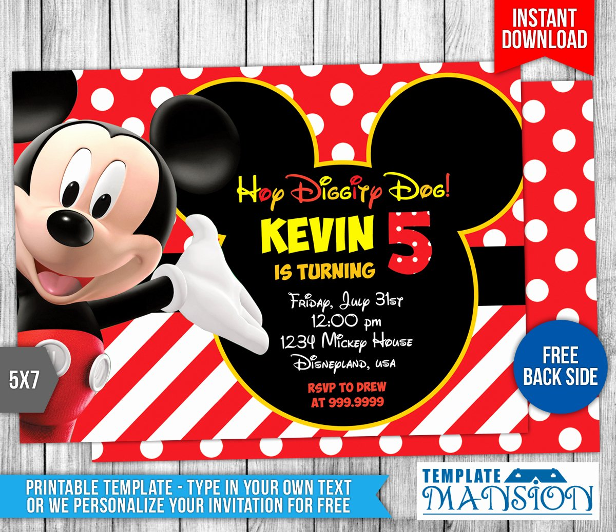 Mickey Mouse Clubhouse Invitation Template Unique Mickey Mouse Clubhouse Birthday Invitation by