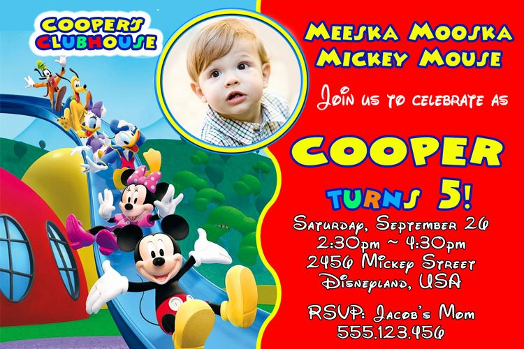 Mickey Mouse Clubhouse Invitation Unique Mickey Mouse Clubhouse Invitation – Mm019 — Invite
