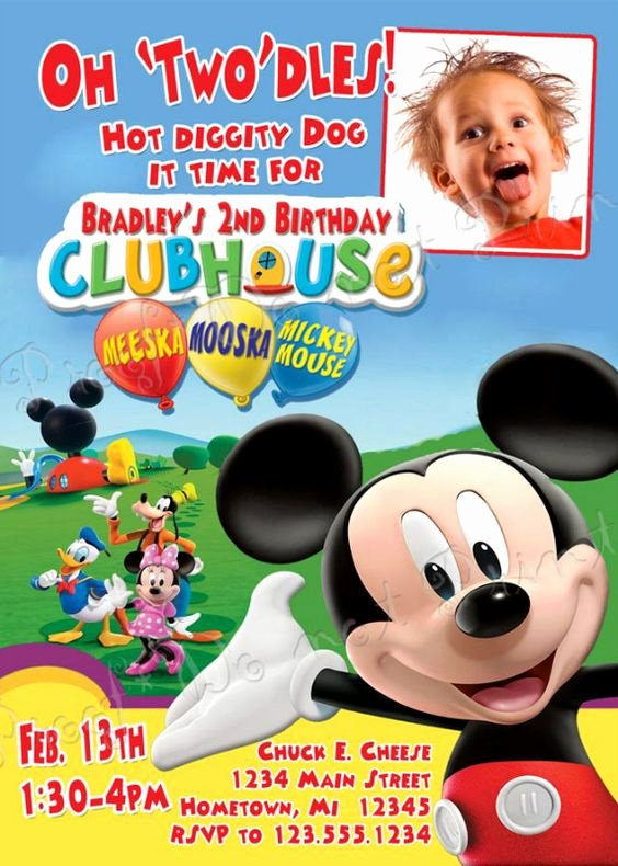 Mickey Mouse Clubhouse Invitations Awesome Exclusive Mickey Mouse Clubhouse Birthday Invitations