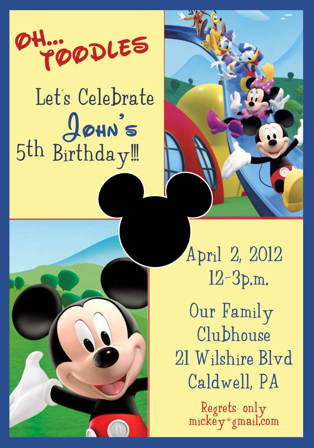 Mickey Mouse Clubhouse Invitations Awesome Mickey Mouse Clubhouse Birthday Invitations Mickey Mouse