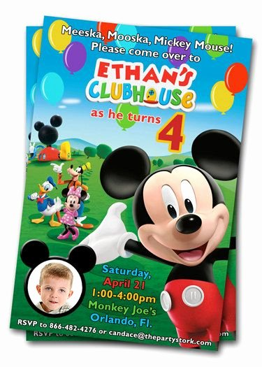 Mickey Mouse Clubhouse Invitations Inspirational Mickey Mouse Clubhouse Birthday Invitations Printable