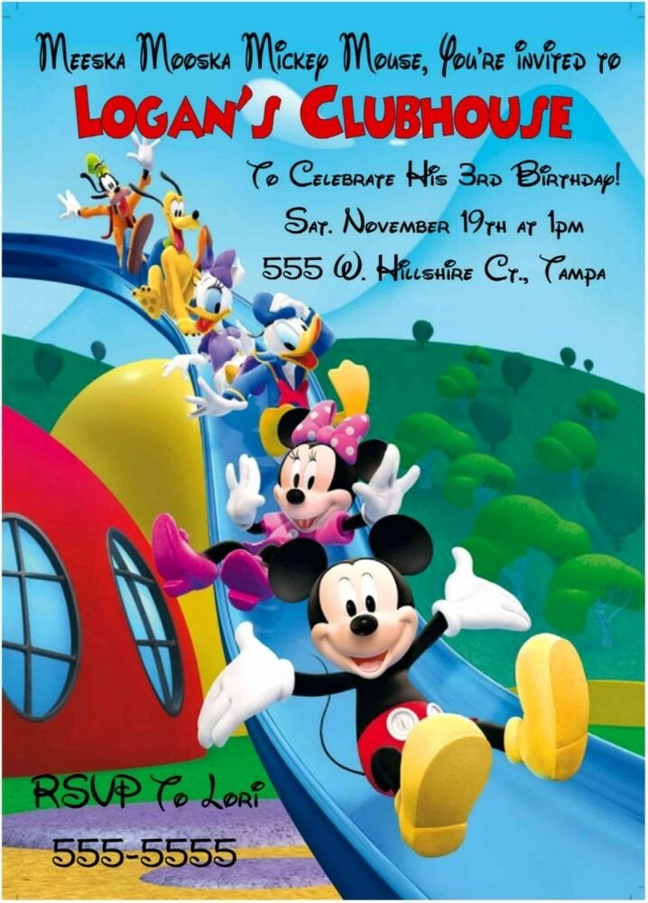 Mickey Mouse Clubhouse Invitations Lovely Mickey Mouse Clubhouse Birthday Invitations Slide Design