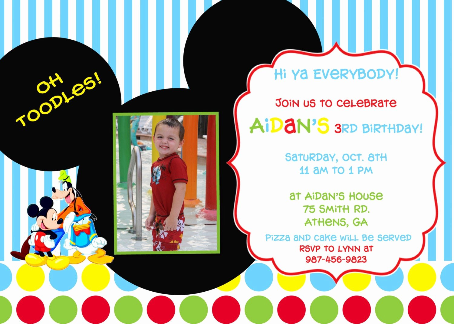 Mickey Mouse Clubhouse Invitations Lovely Mickey Mouse Clubhouse Birthday Party Invitation