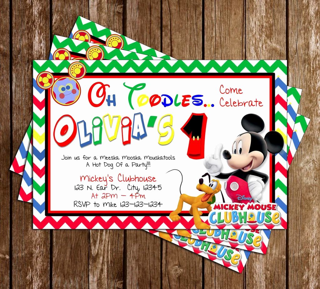 Mickey Mouse Clubhouse Invitations Lovely Novel Concept Designs Disney Mickey Mouse Clubhouse