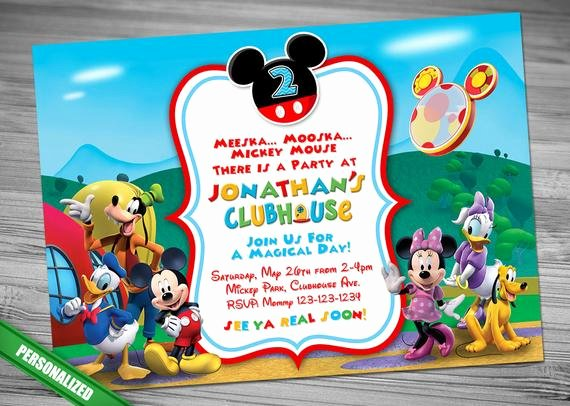 Mickey Mouse Clubhouse Invitations Luxury Mickey Mouse Clubhouse Invitation Mickey Invitation Mickey