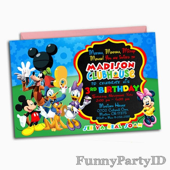 Mickey Mouse Clubhouse Invitations Luxury Mickey Mouse Clubhouse Invitation Mickey Mouse Clubhouse