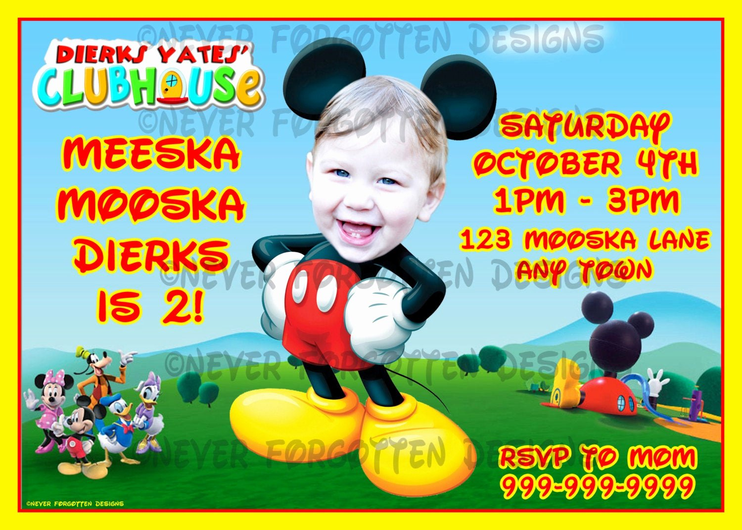 Mickey Mouse Clubhouse Invitations Unique Unavailable Listing On Etsy