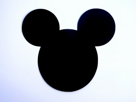 Mickey Mouse Head Cutout Template Awesome 6 Mickey Mouse Head Ears Die Cut Disney Mickey Mouse