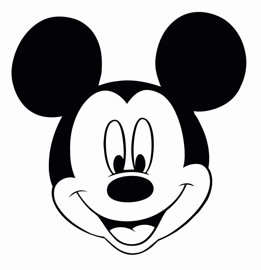 Mickey Mouse Head Cutout Template Awesome Perfect Imperfect