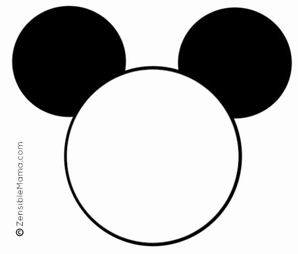 Mickey Mouse Head Cutout Template Best Of Mickey Mouse Head Template Printable Google Search