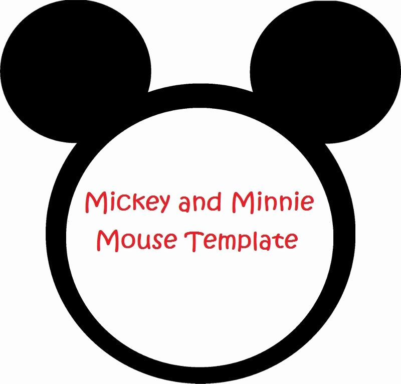 Mickey Mouse Head Cutout Template Inspirational Minnie Mouse Cut Outs Printable