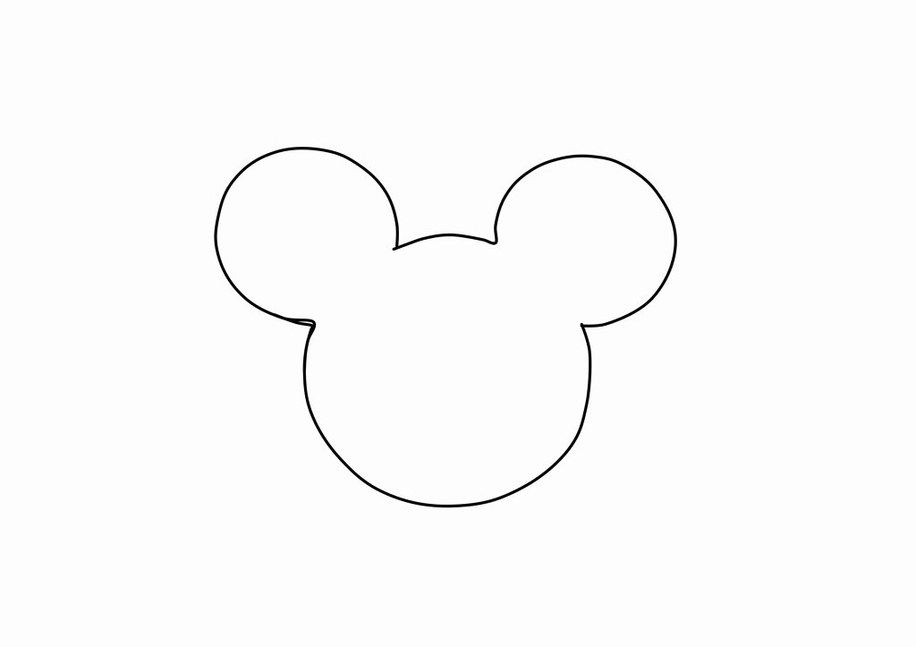 Mickey Mouse Head Cutout Template Inspirational Template Printable Gallery Category Page 14