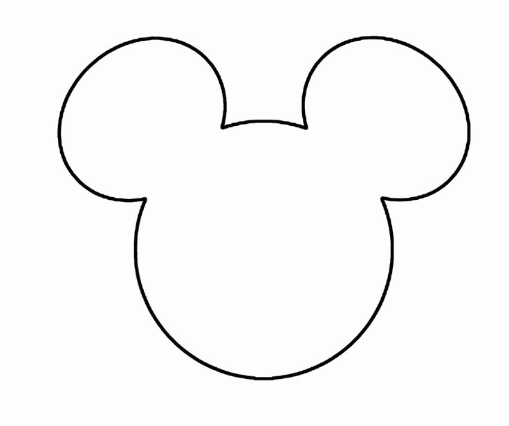 Mickey Mouse Head Cutout Template Lovely Minnie Mouse Black Face Cliparts