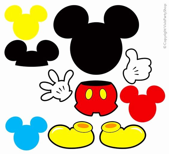 Mickey Mouse Head Cutout Template Lovely Printable Mickey Mouse Clipart Clipground
