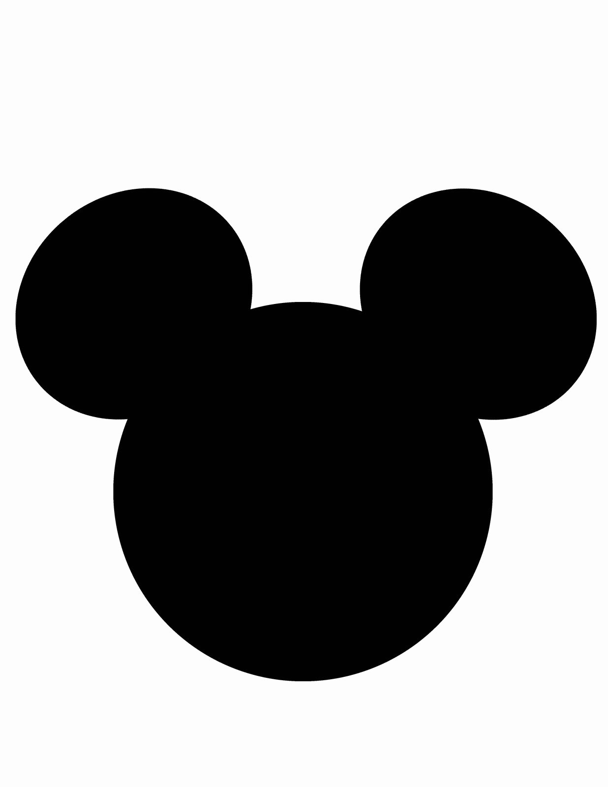 Mickey Mouse Head Cutout Template Unique Mickey Mouse Head Template