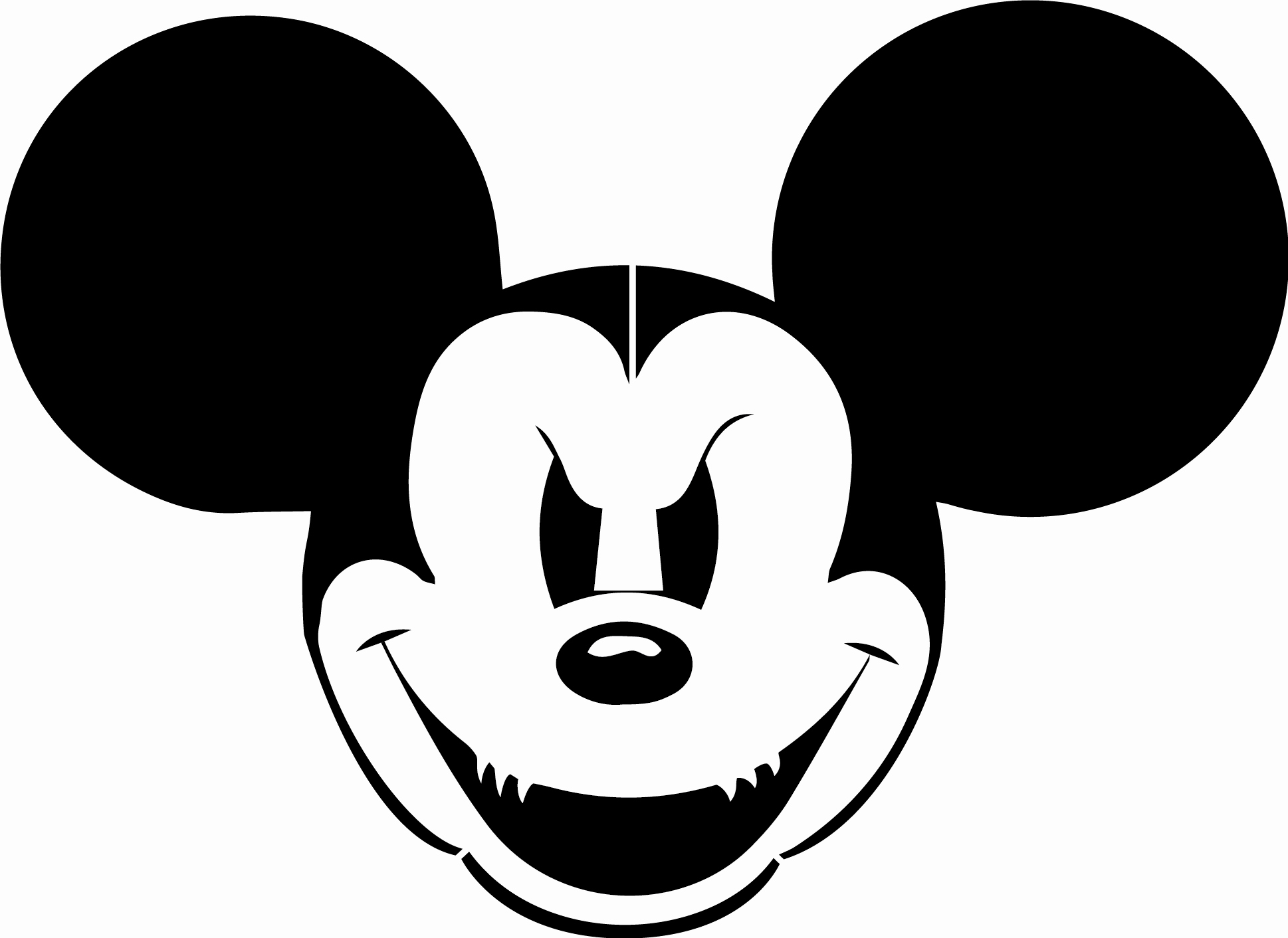 Mickey Mouse Head Stencil Beautiful Mickey Mouse Free Stencils Cliparts