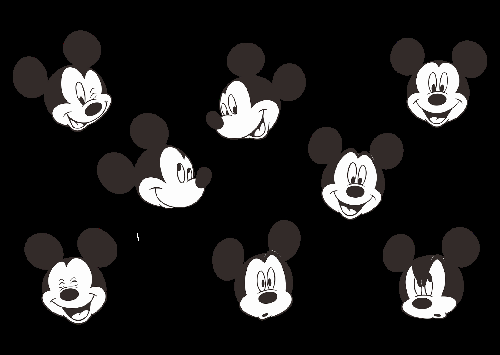 Mickey Mouse Head Stencil Fresh Mickey Mouse Logo Vector Part 2 Black and White format