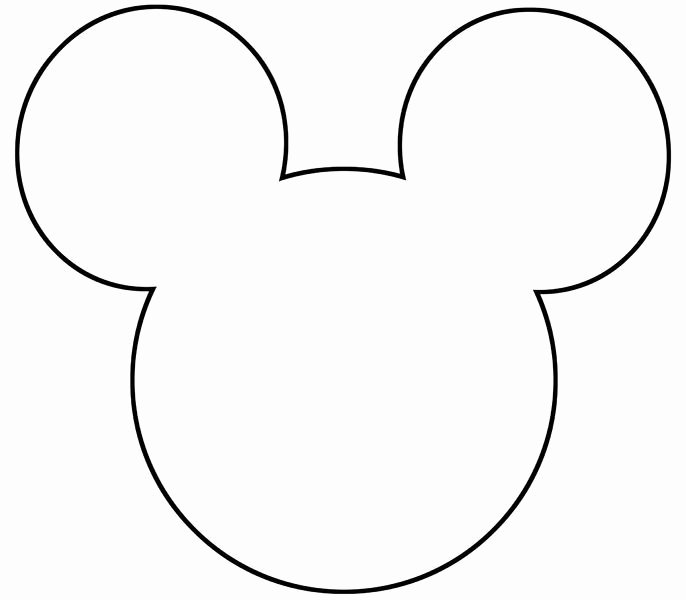 Mickey Mouse Head Stencil Inspirational Best 25 Mickey Mouse Template Ideas On Pinterest