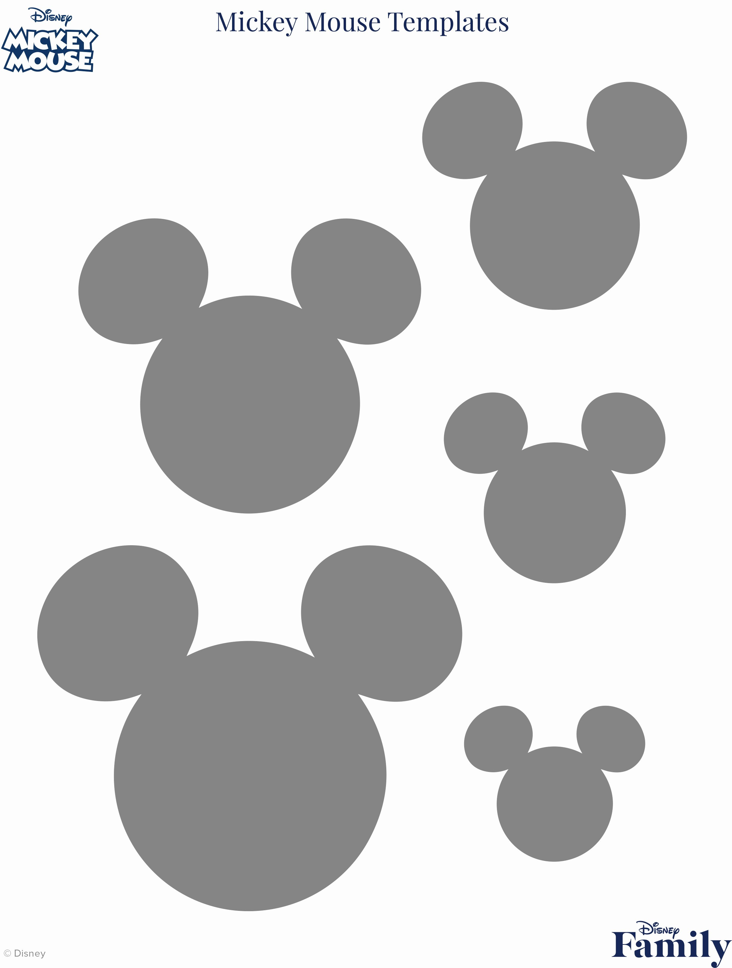 Mickey Mouse Head Stencil Luxury Mickey Mouse Template