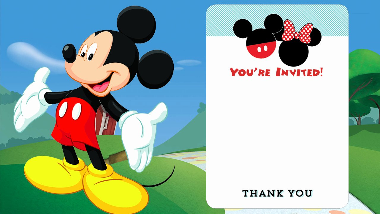Mickey Mouse Invitation Card Awesome Free Disney Printable Birthday Invitations Downloadable